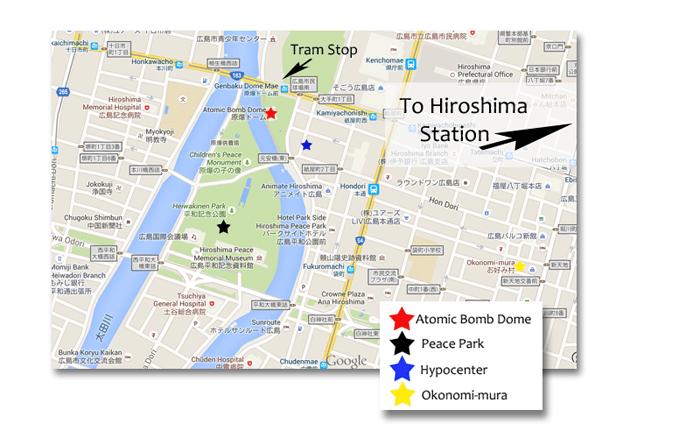 Hiroshima Map Earth Trekkers