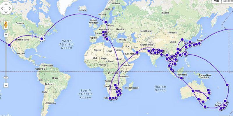 Our Map RTW