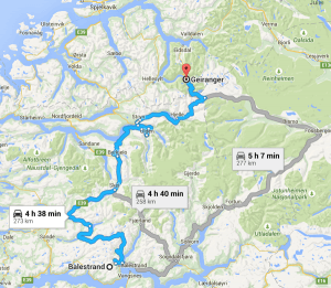 Day Norway Itinerary Earth Trekkers - Norway map flam