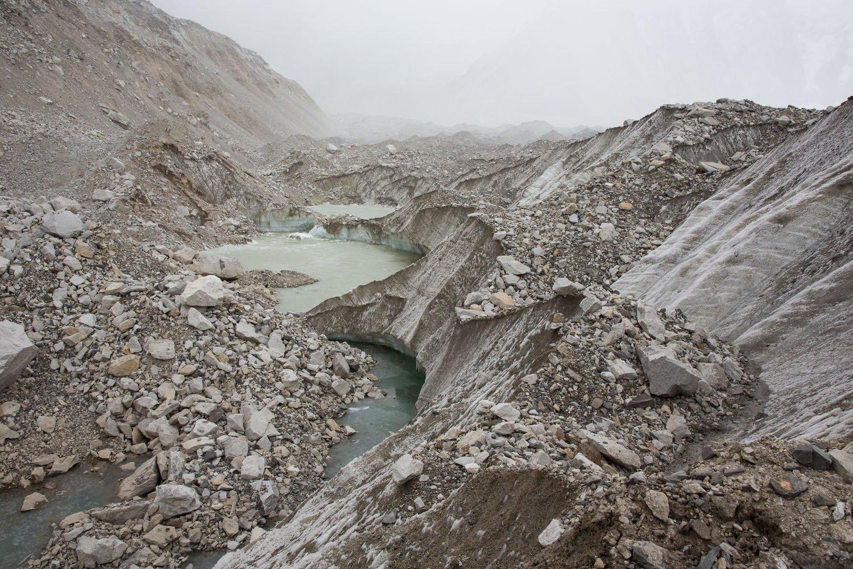 Glacier at EBC