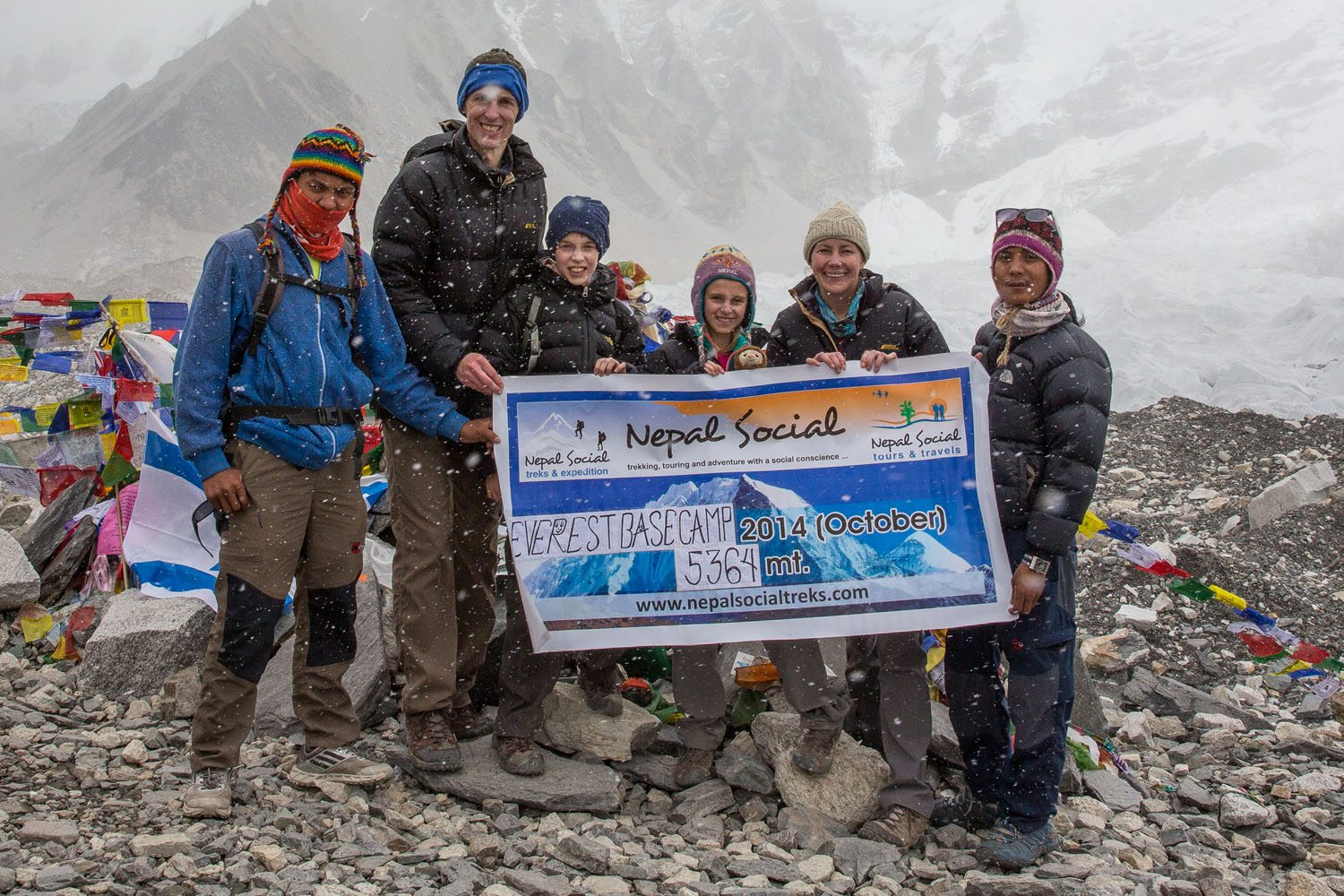Earth Trekkers at Everest Base Camp
