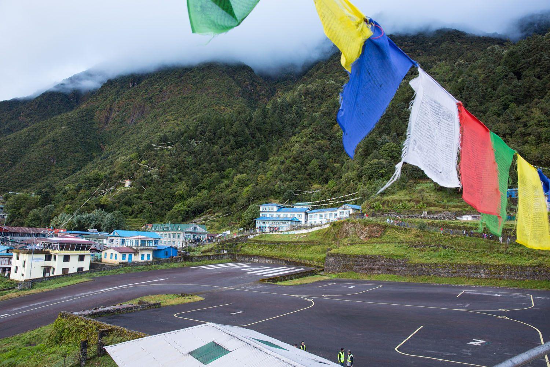 Prayer Flags over Lukla Airport
