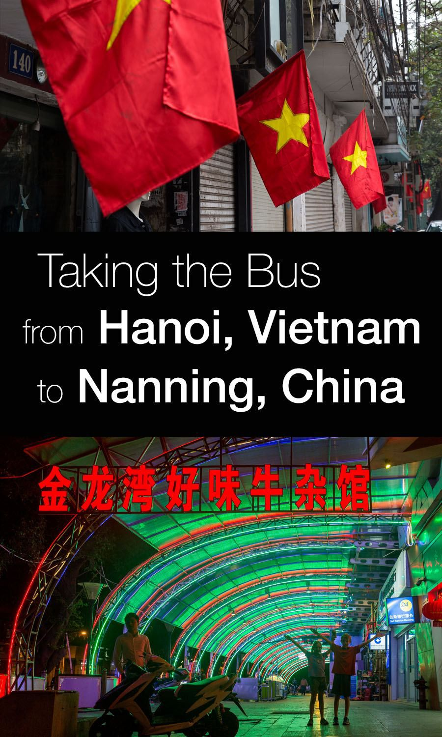 Taking the bus from Hanoi to Nanning