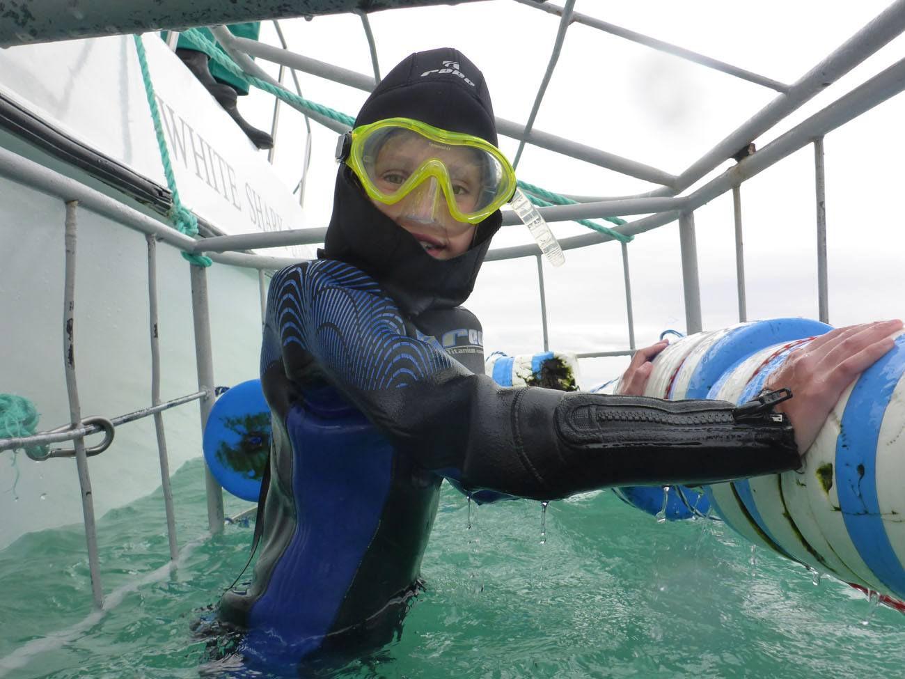 Kara Shark Cage Diving