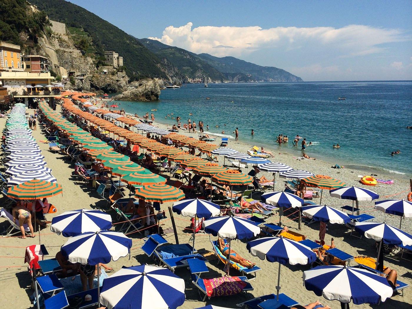 Monterosso Beach Umbrellas
