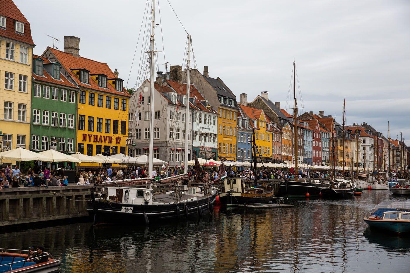 Nyhavn Copenhagen Cloudy Day