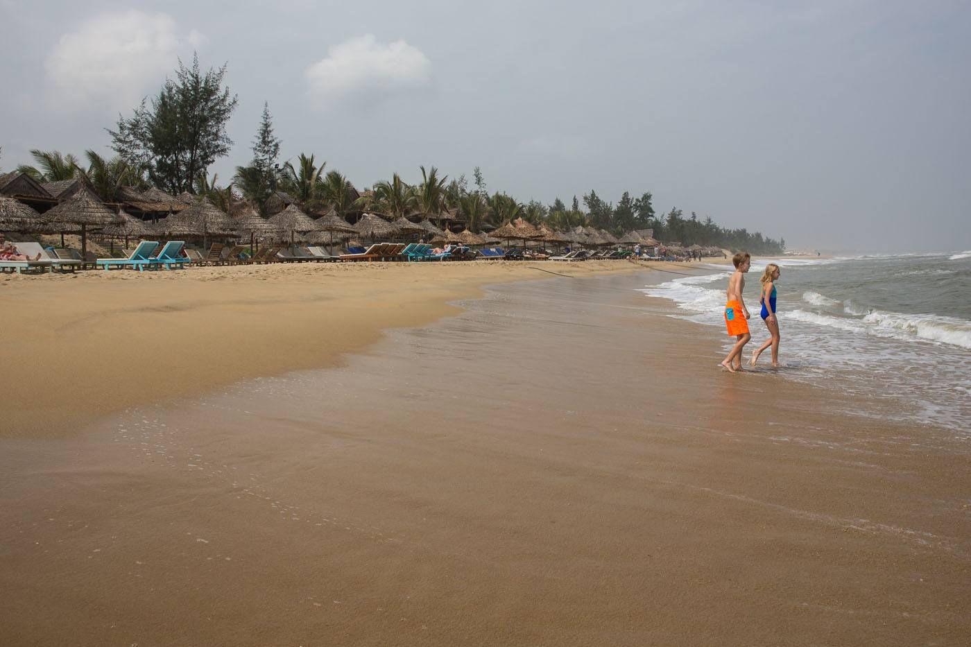 On the Hoi An Beach