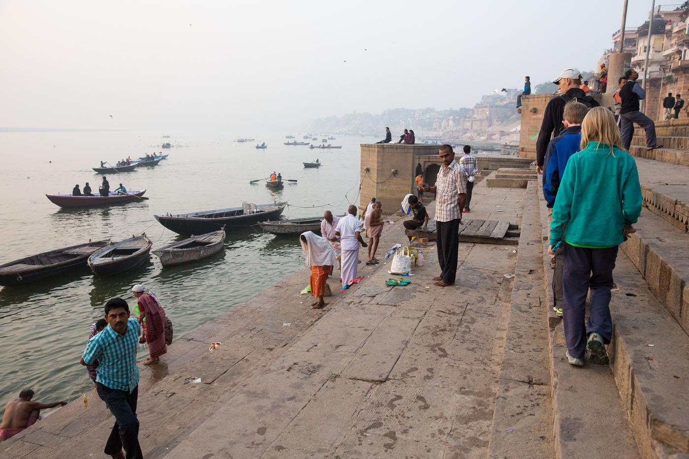 Walking Along the Ganges