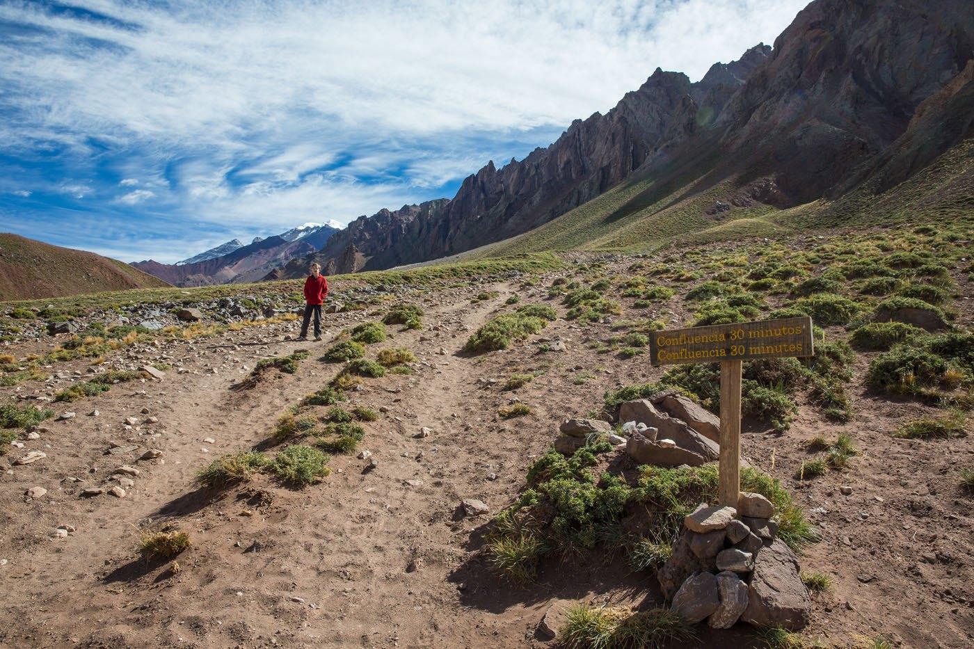 Hiking to Aconcagua Confluencia
