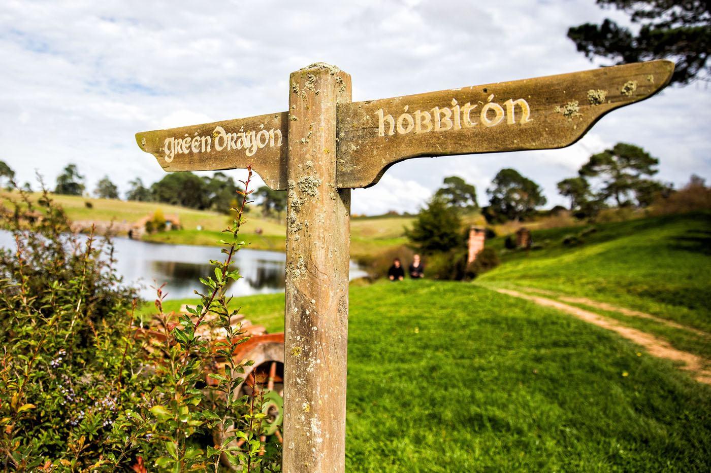 Hobbiton New Zealand Sign