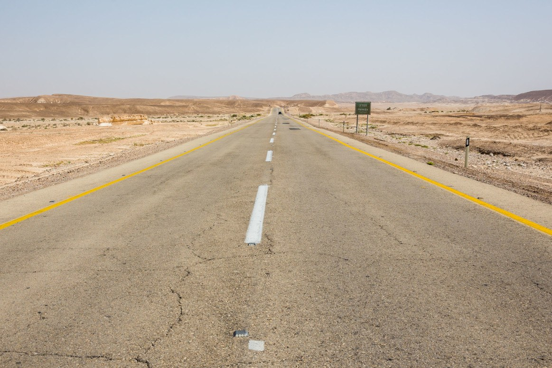 Driving Negev Desert Israel