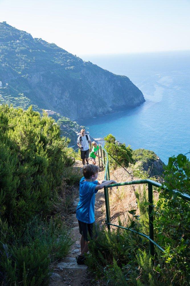 Hiking Cinque Terre Kids