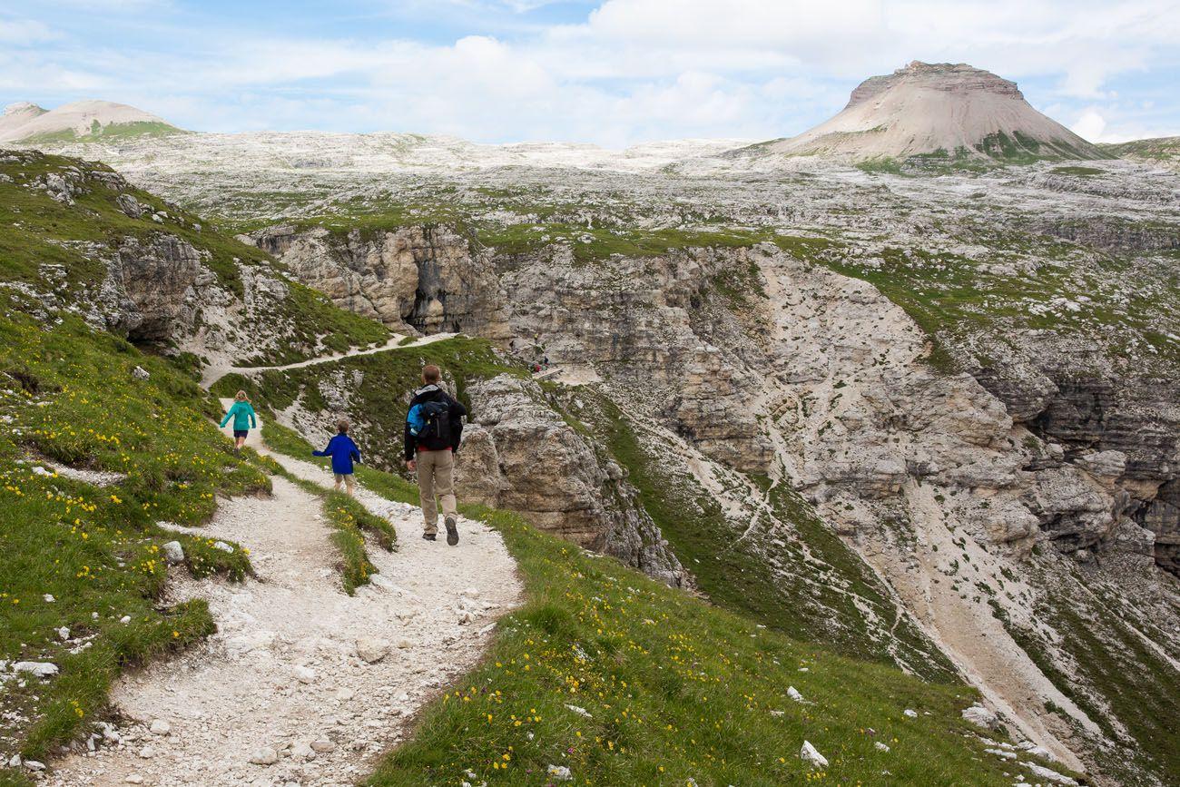Hiking Dolomites Italy