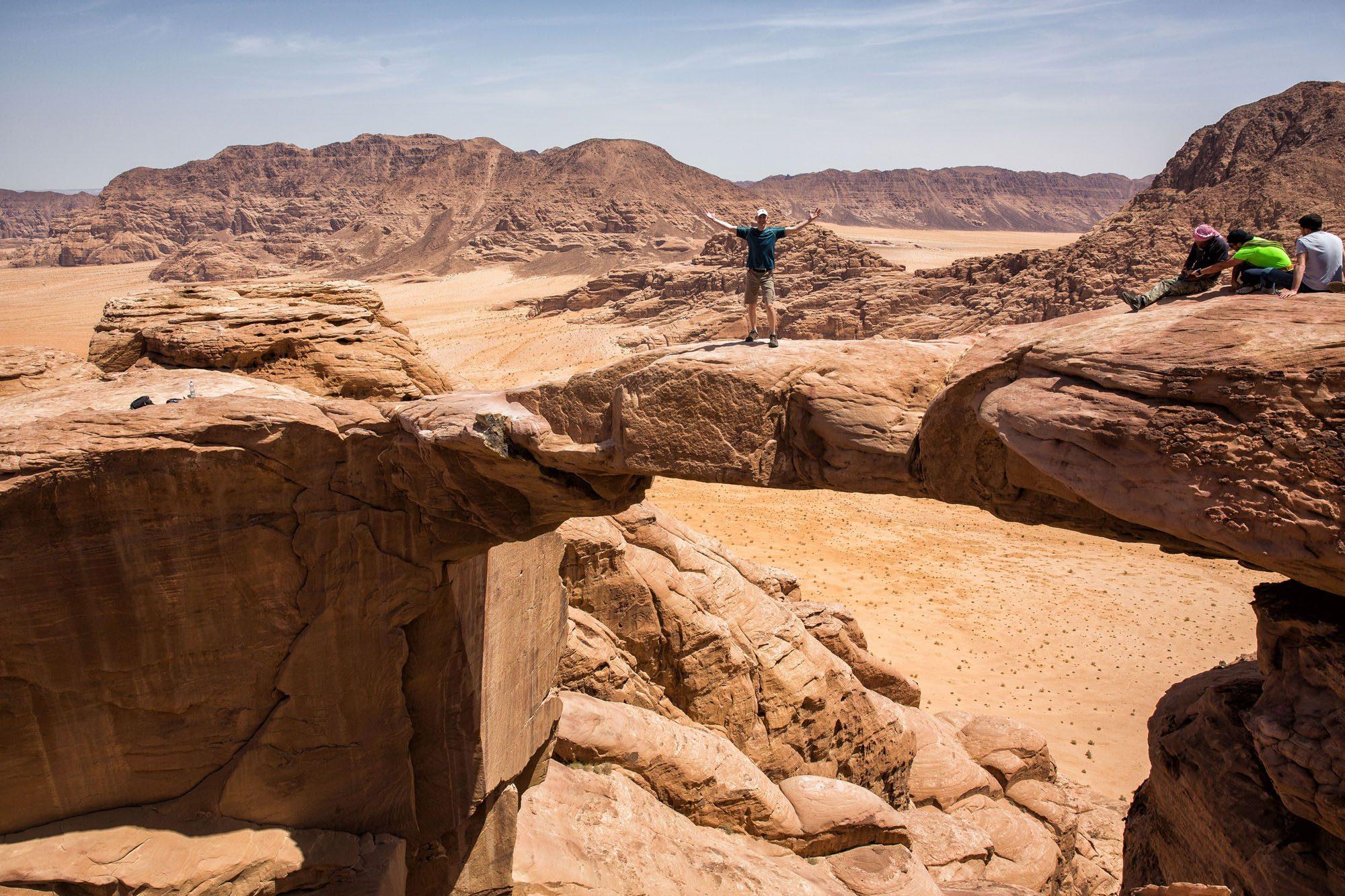 Hiking Jebel Burdah Rock Arch Jordan