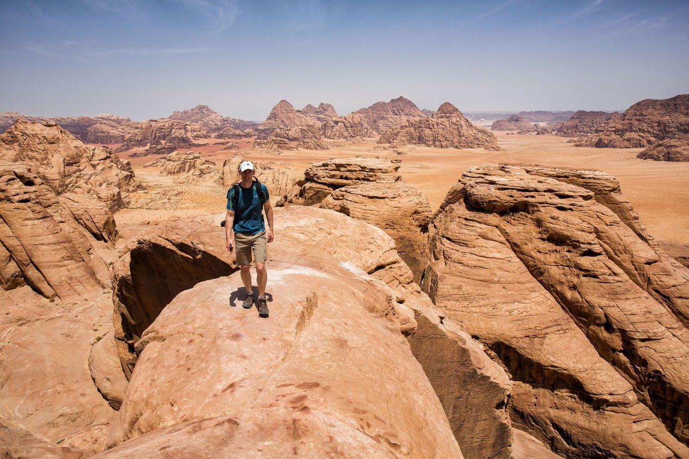 Hiking Wadi Rum to Jebel Burdah