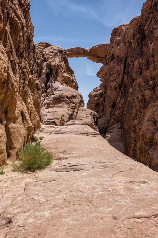 Jebel Burdah Rock Bridge Jordan
