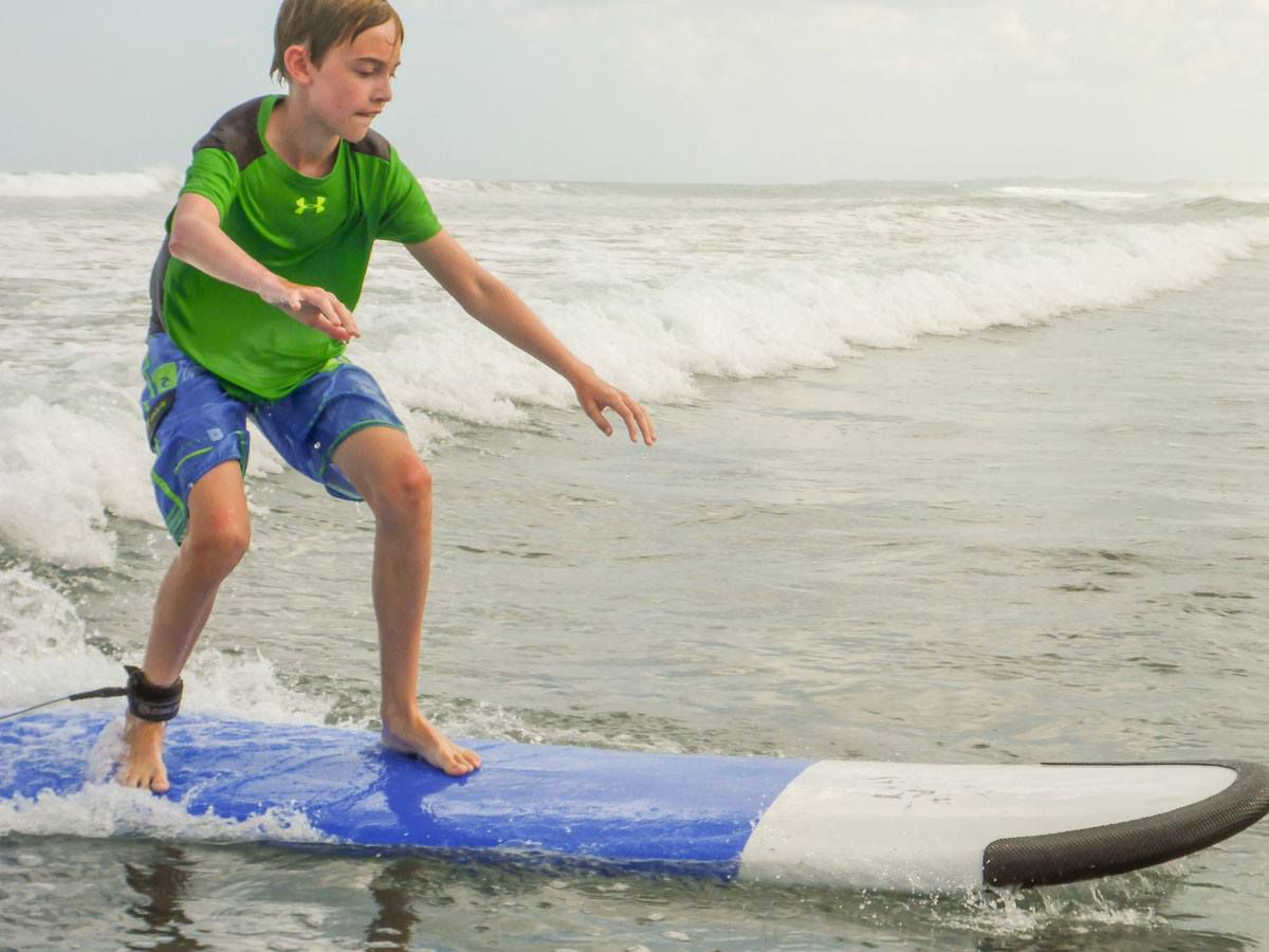 Tyler Rivenbark Surfing