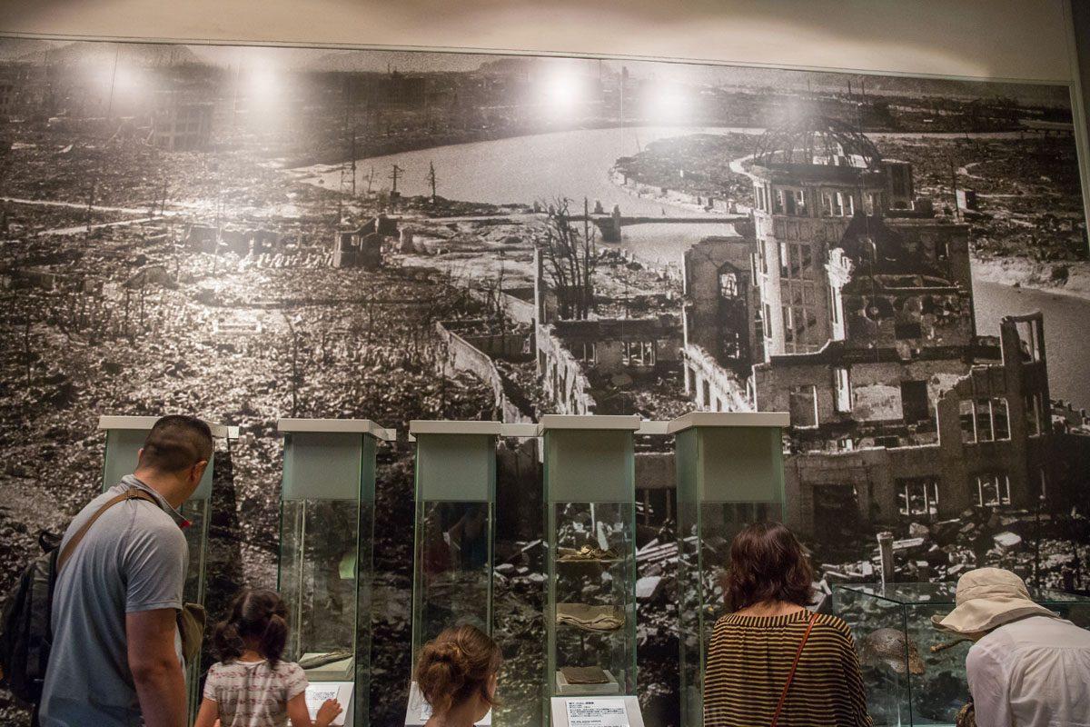 Inside Hiroshima Museum