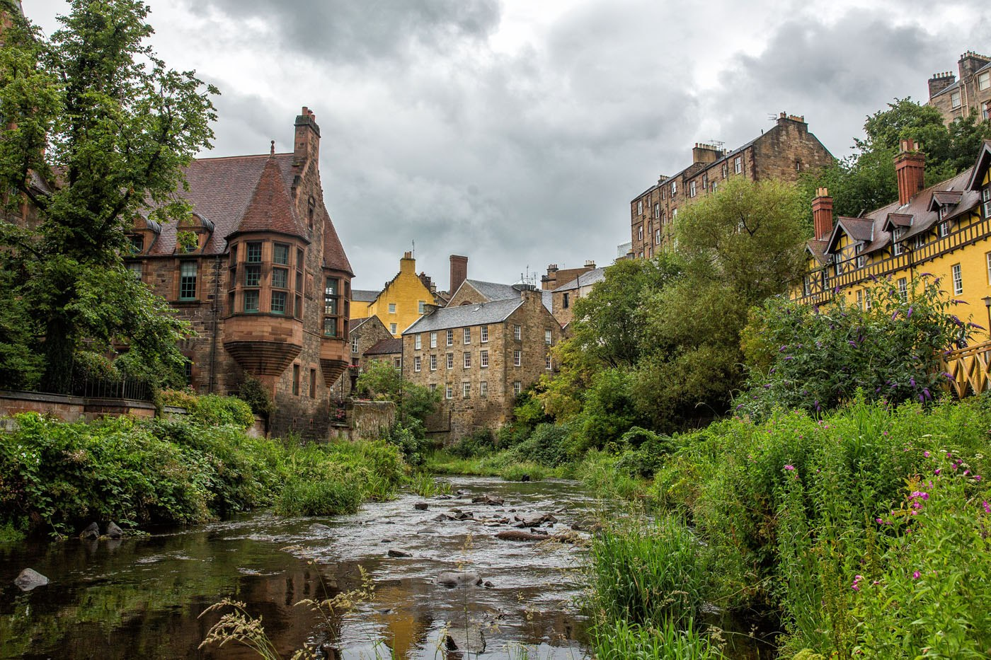 Dean Village View from River