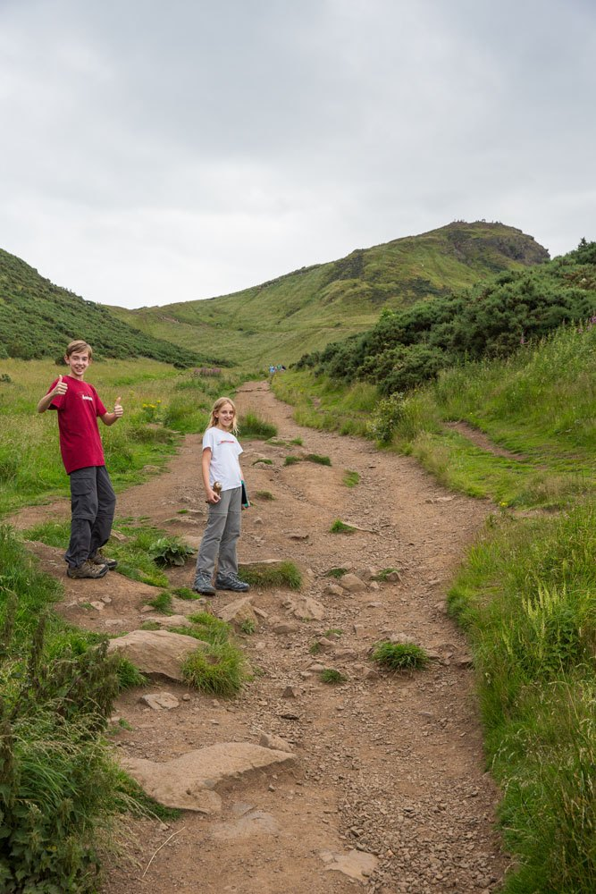 Arthurs Seat with Kids