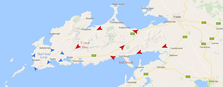 Dingle Peninsula Map
