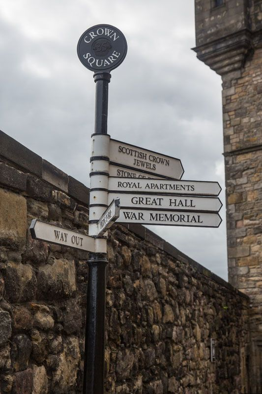 Edinburgh Castle Sign