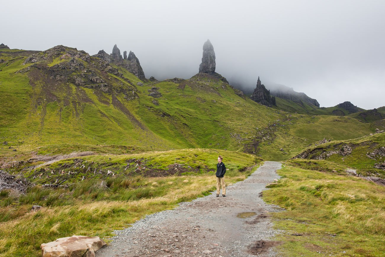 Hiking Old Man of Storr