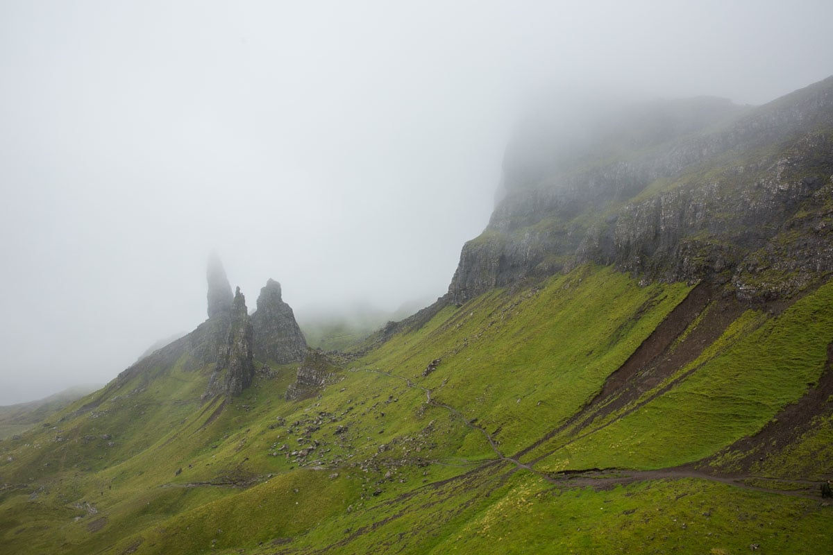 Old Man of Storr Rain