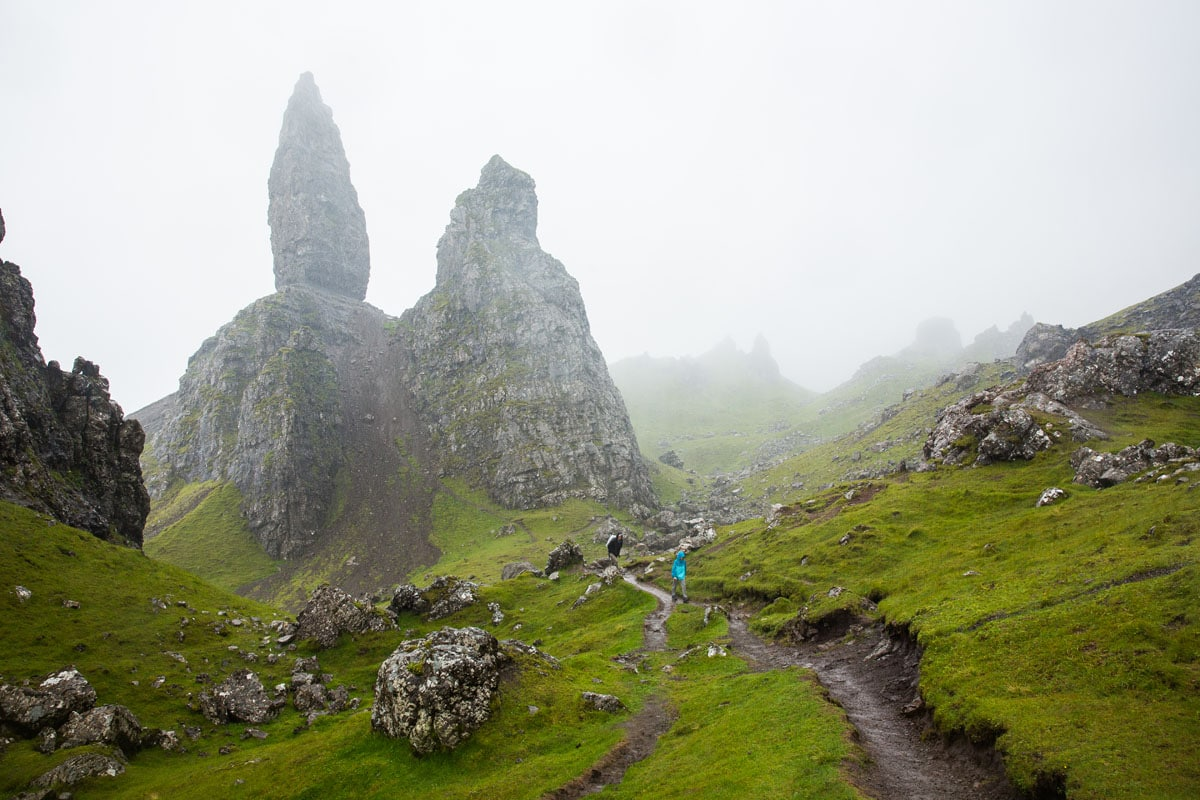 Old Man of Storr in the Rain