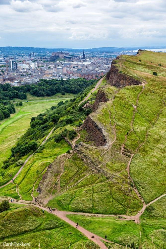 Salisbury Crags in Edinburgh