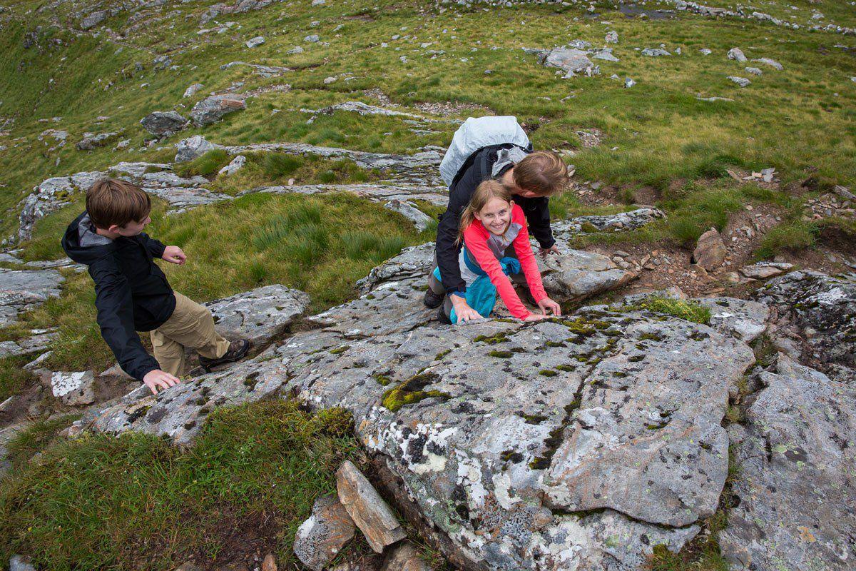 Climbing Forcan Ridge