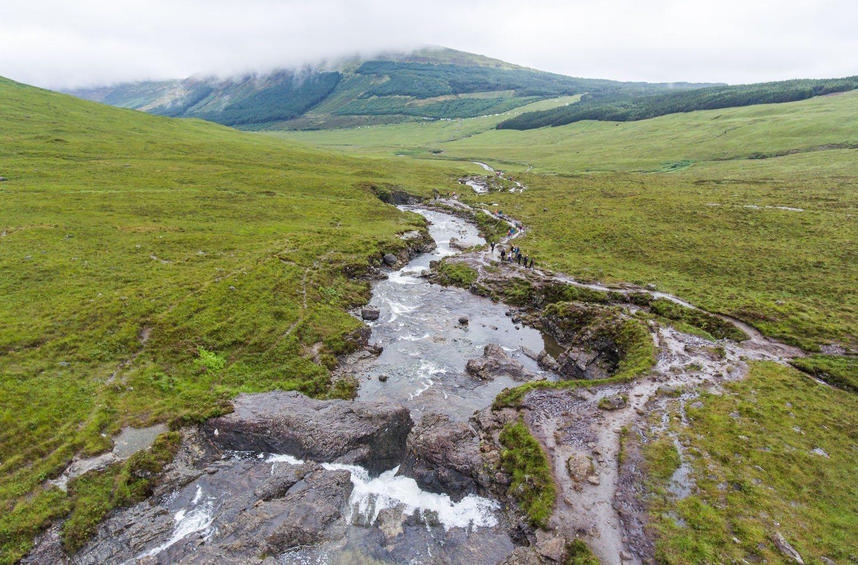 Fairy Pools Drone Scotland