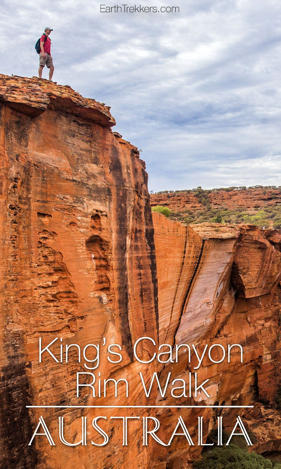 Hiking Kings Canyon Rim Walk Australia