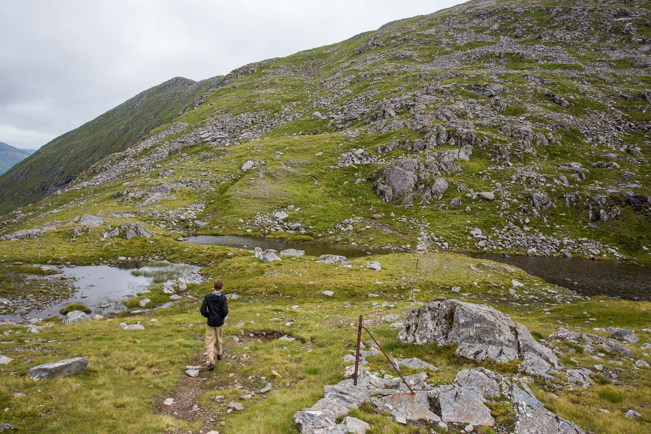 Hiking Kintail Saddle