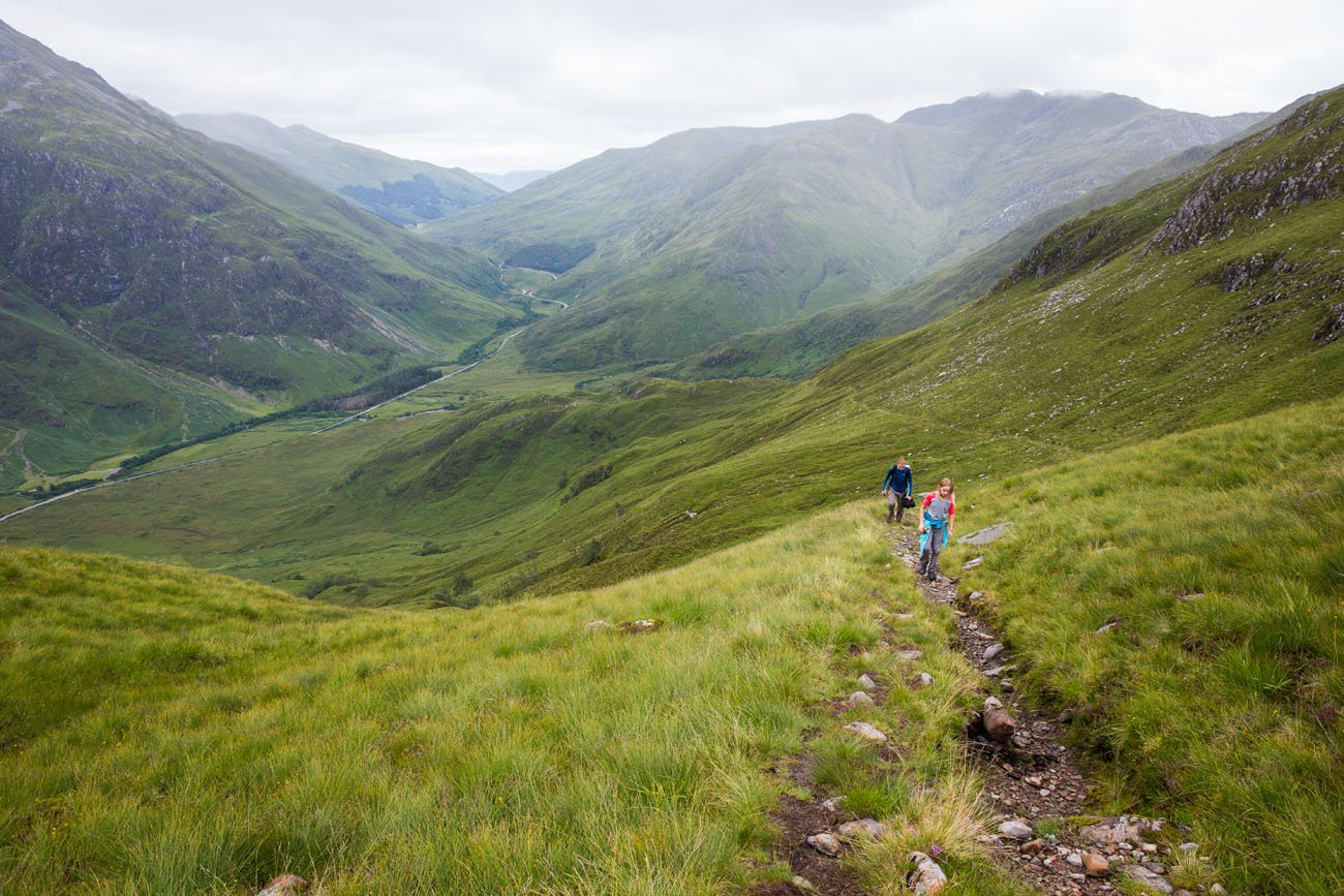 Hiking Scotland with kids