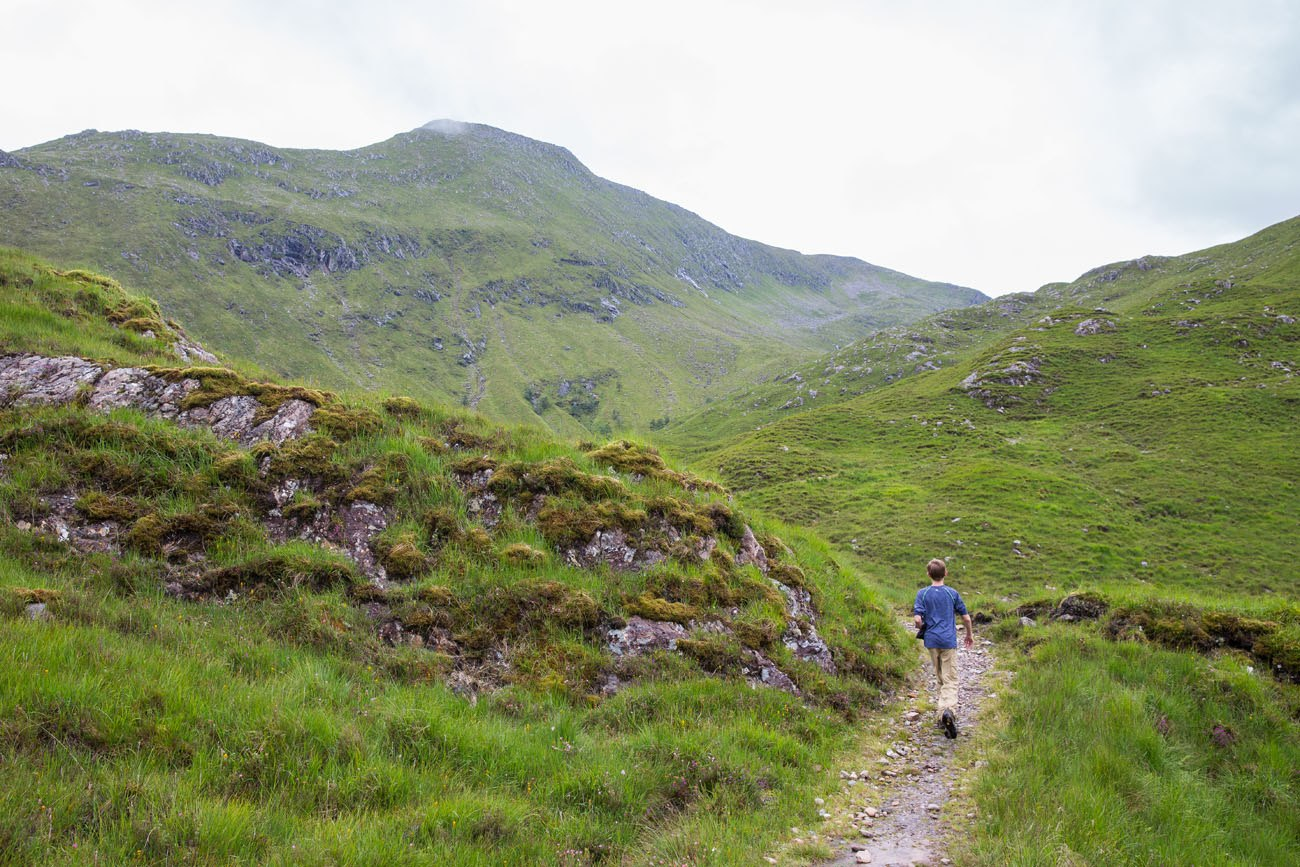 Tyler hiking Scotland