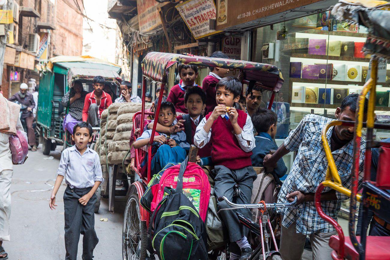 Kids in Delhi India