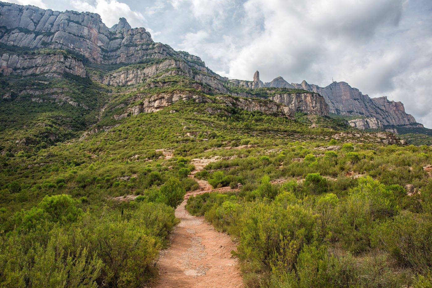 Montserrat hiking trail