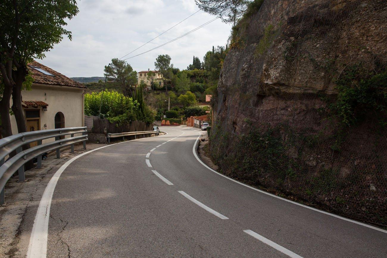 Road through Monistrol