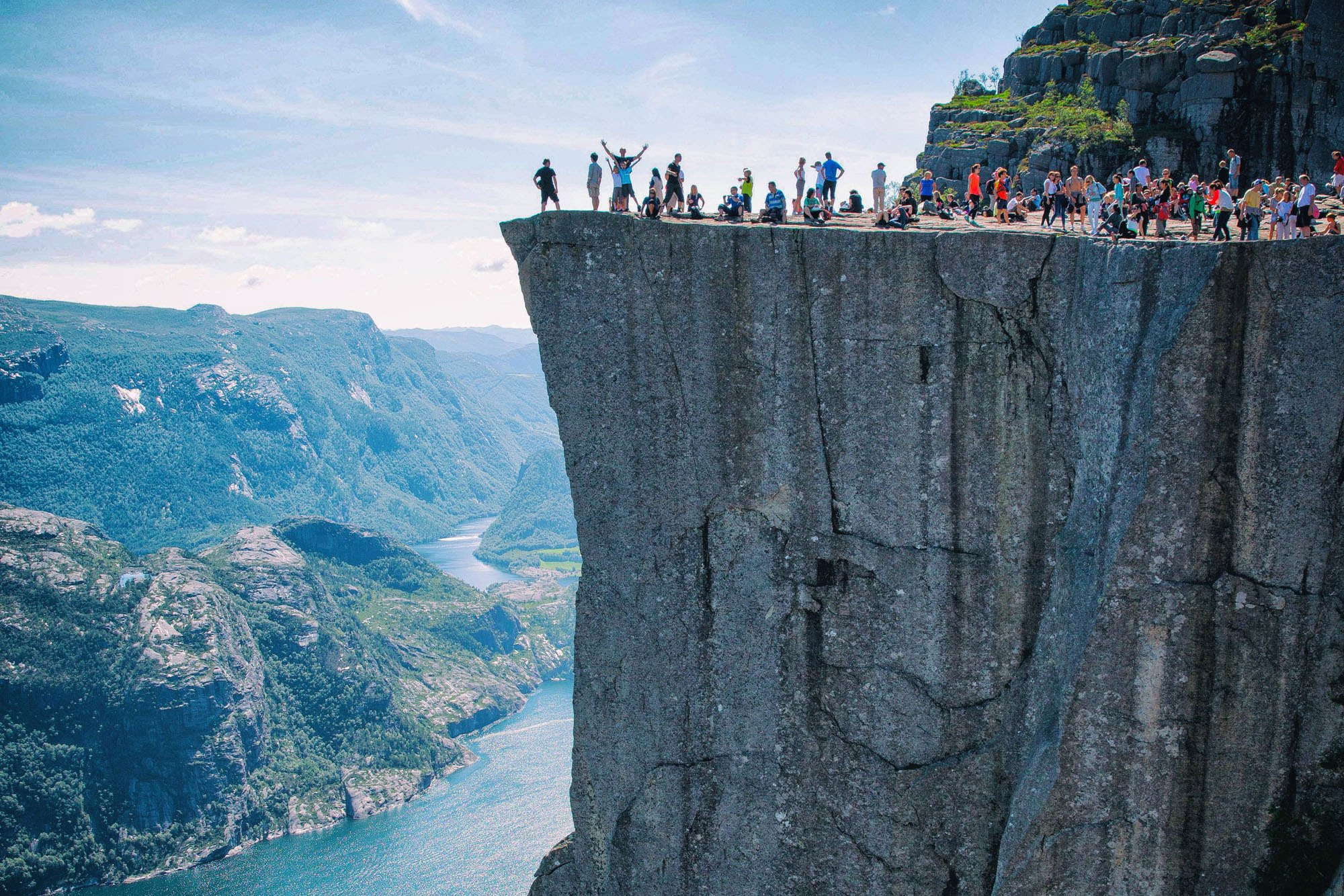 Hiking Pulpit Rock Norway with Kids