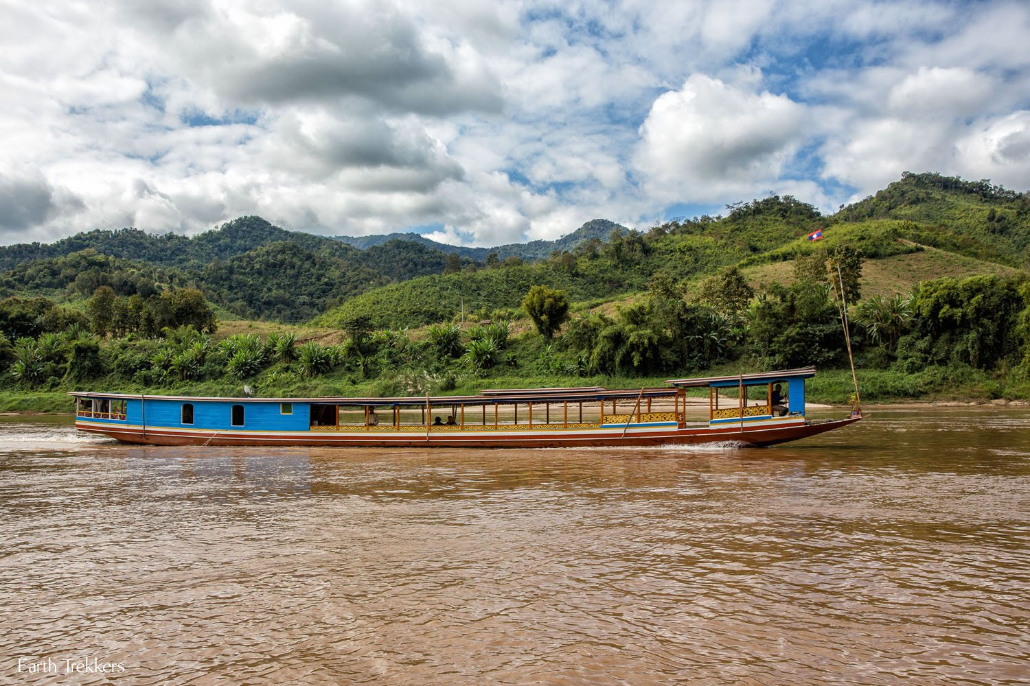 Taking the Slow Boat from Thailand to Laos - Following our Feet