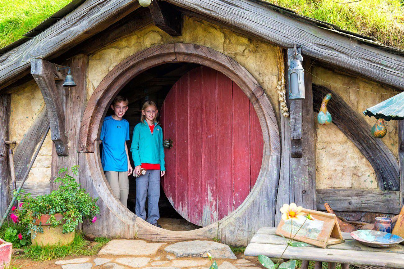 Tyler and Kara at Hobbiton