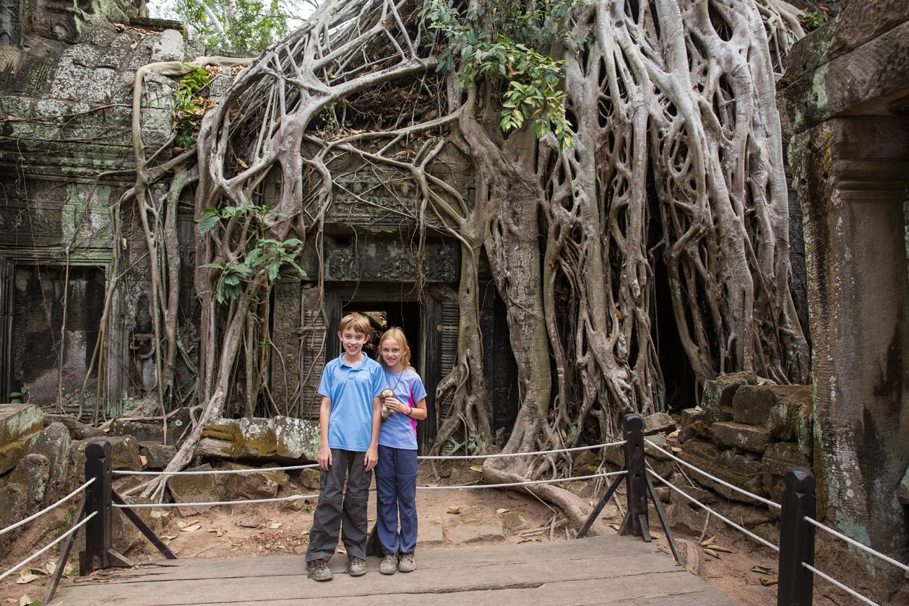 Tyler and Kara at Ta Phrom