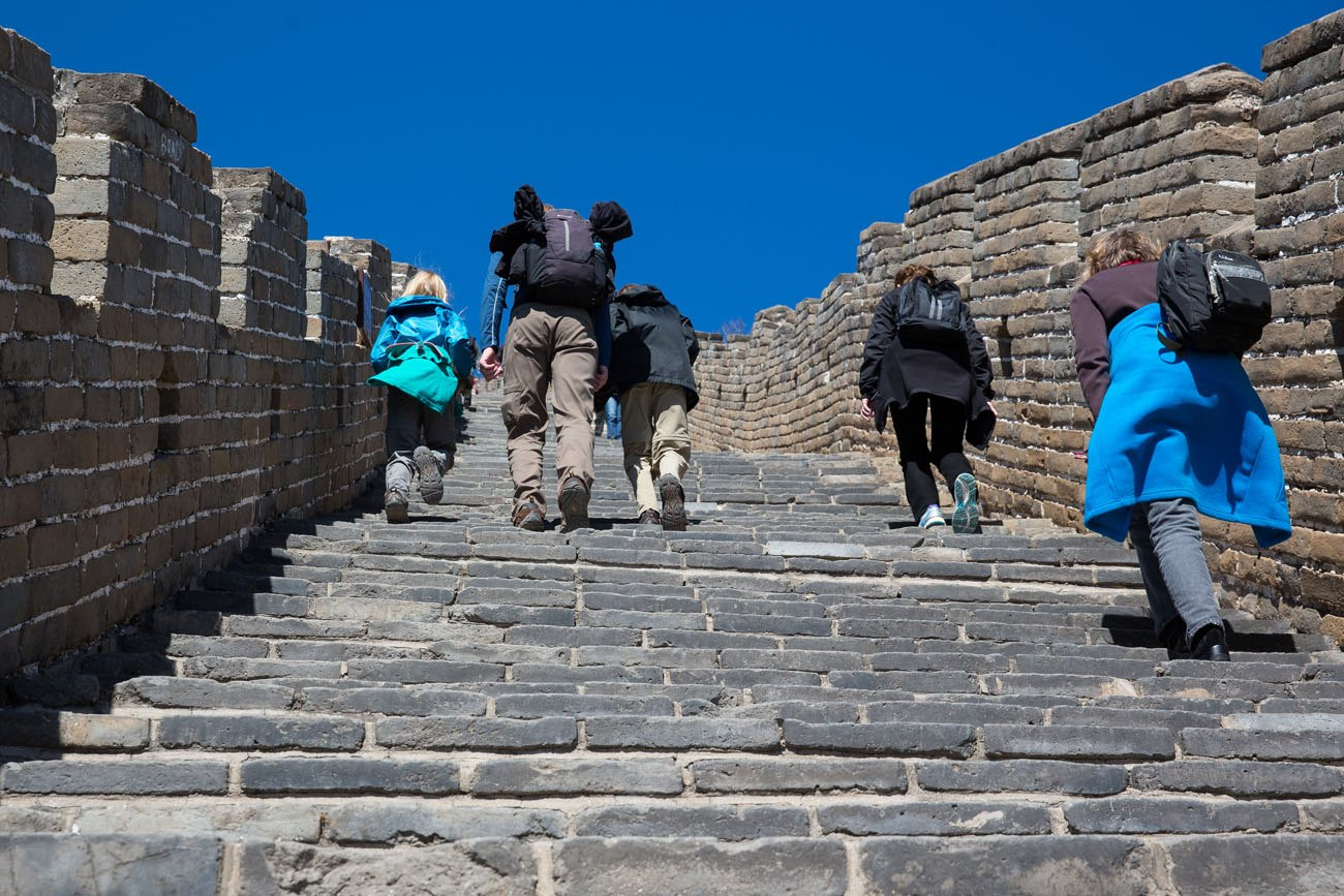 How steep is the Great Wall