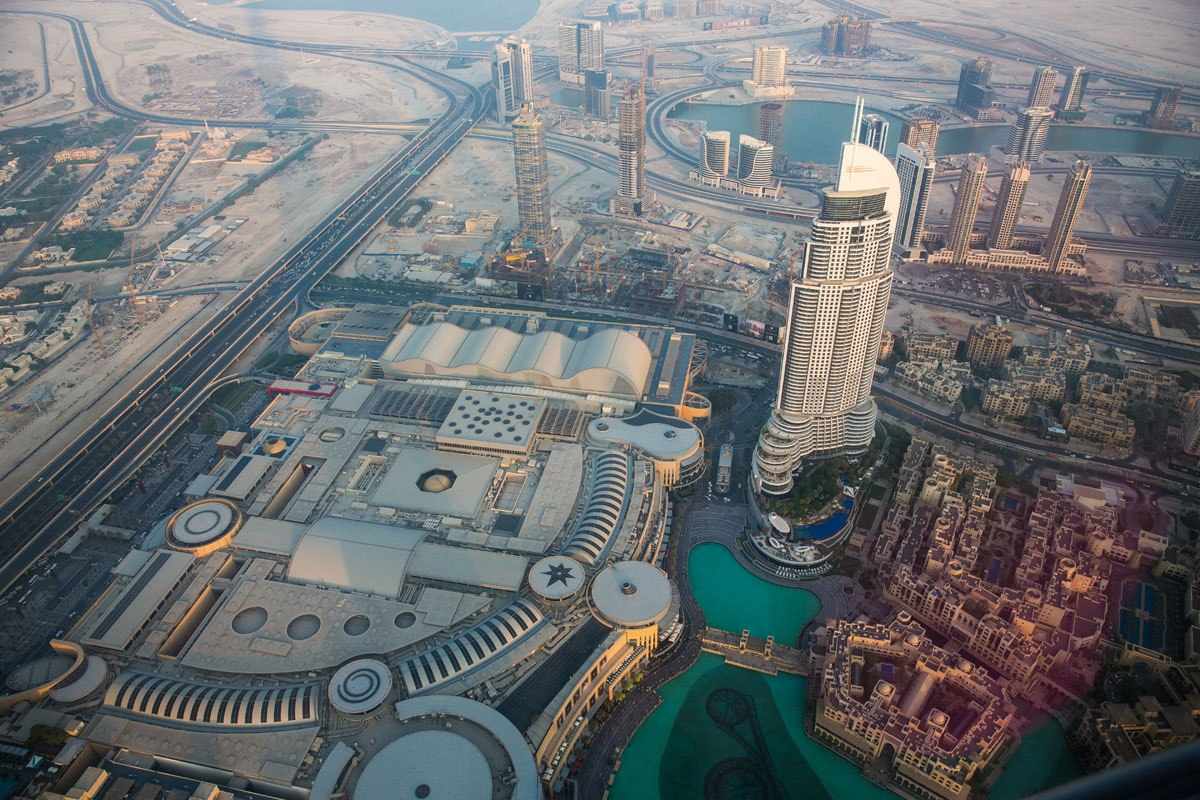 Looking down on Dubai