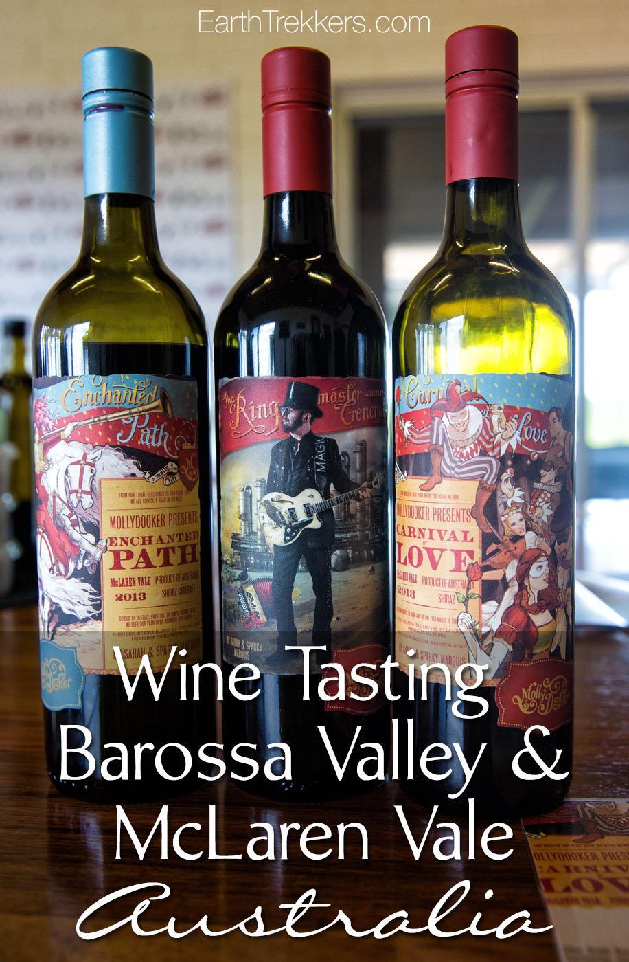 Barossa Valley Mclaren Vale wine tasting