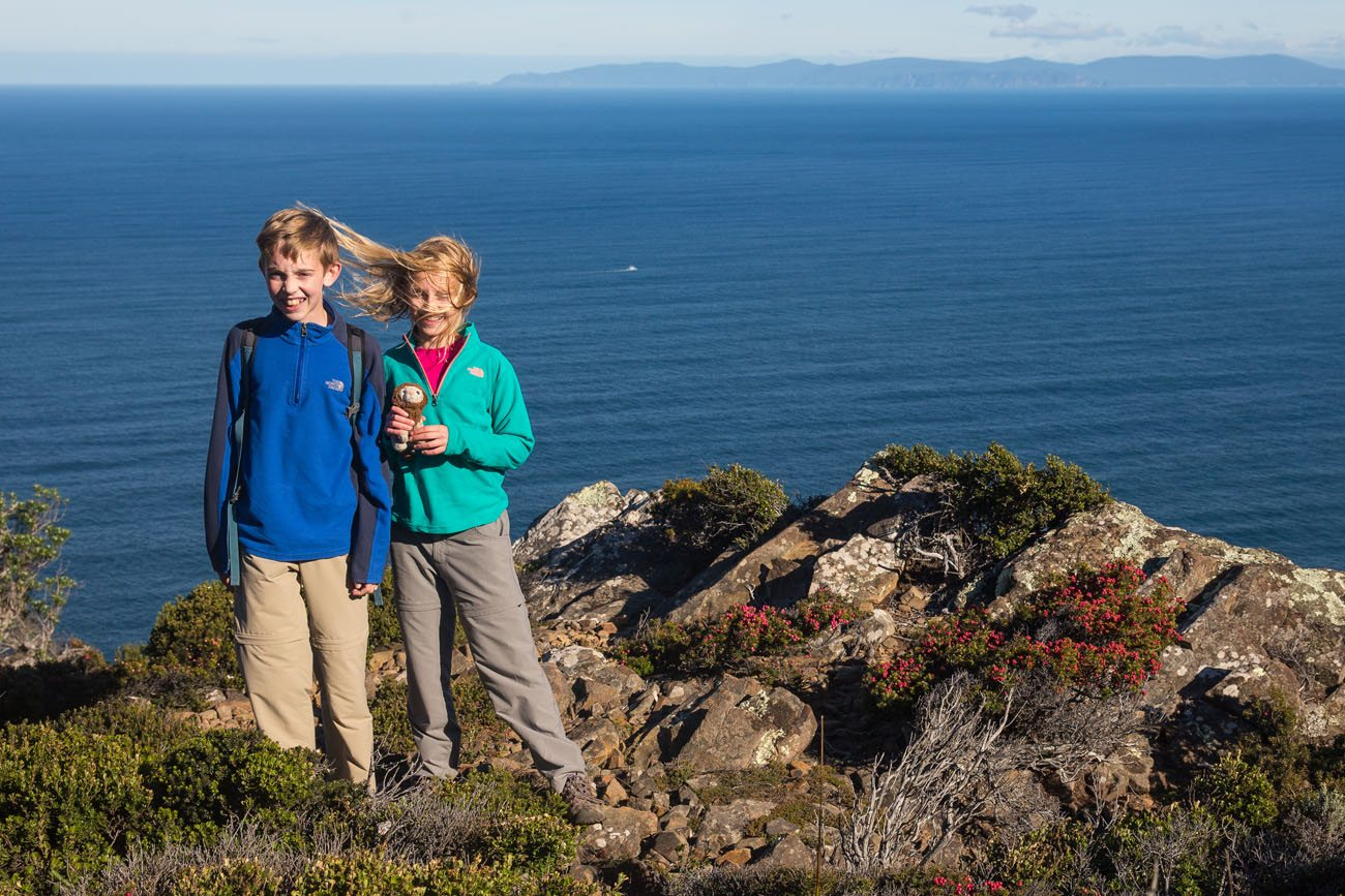 Cape Raoul with kids