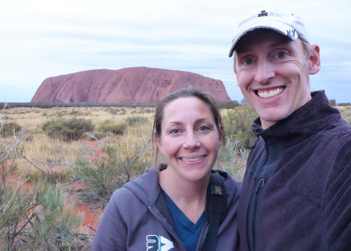 Tim and Julie Uluru