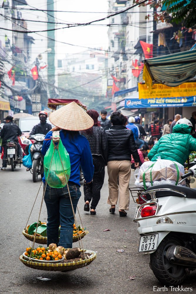Walking through Hanoi