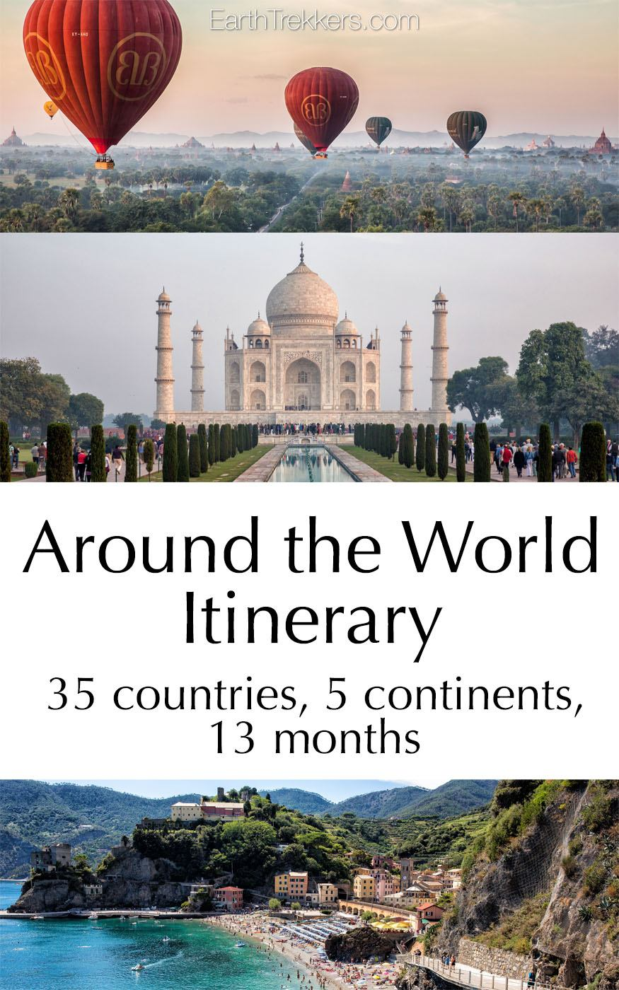 Our around the world itinerary earth trekkers for All inclusive around the world trip